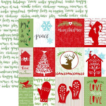 "Load image into Gallery viewer, Home for Christmas Tags 12"" Double Sided Glitter Scrapbook Paper"