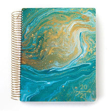 Load image into Gallery viewer, Teal Marble 2021 Dated Planner