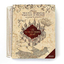 Load image into Gallery viewer, Harry Potter Marauder's Map 2021 Dated Planner
