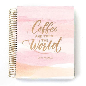 coffee then the world 2021 dated planner