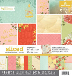 "Sliced-Love 12"" Paper Pad"