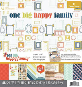 "One Big Happy Family 12"" Paper Pad"