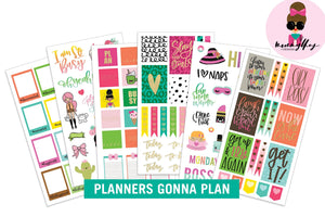 Mommy Lhey- Planners Gonna Plan Sticker Kit