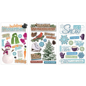 Winter 3D Sticker Bundle