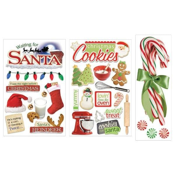 christmas traditions 3d sticker bundle