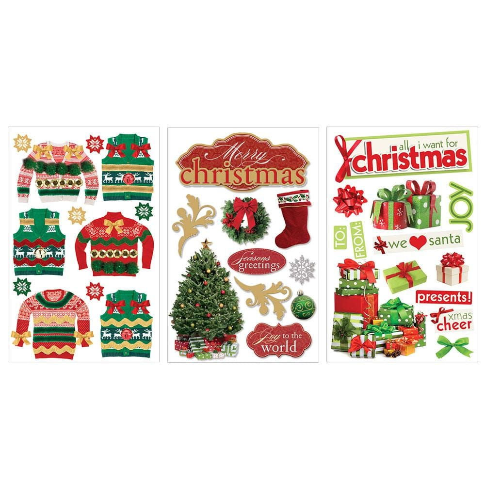 Merry Christmas 3D Sticker Bundle