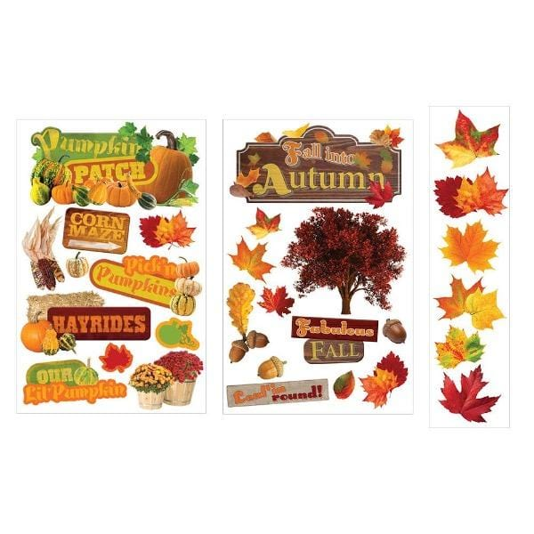 Autumn 3D Sticker Bundle