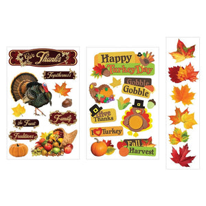 Thanksgiving 3D Sticker Bundle