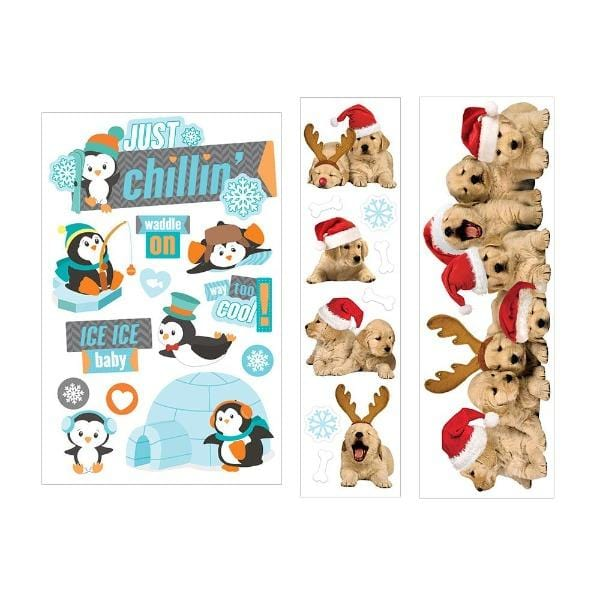 christmas cuties 3d sticker bundle