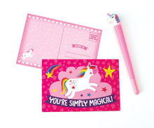 Load image into Gallery viewer, Rainbow Unicorn Stationery Set