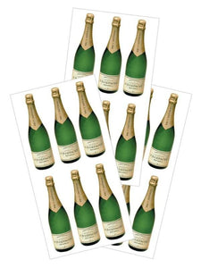 "champagne bottles 2"" sticker"