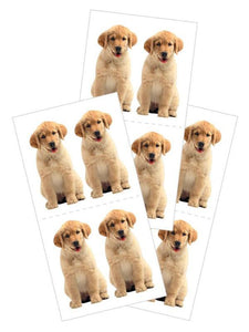 "golden retriever puppy 2"" stickers"