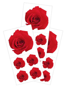 "Red Rose 2"" Sticker"