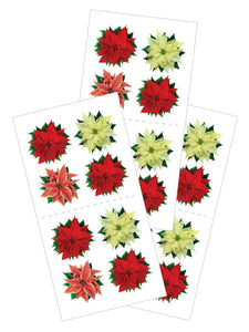 "Poinsettias 2"" Stickers"