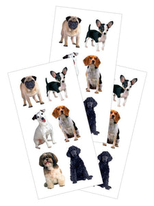 "Small Mixed Dogs 2"" Sticker"
