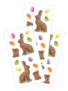 "chocolate bunnies 2"" stickers"