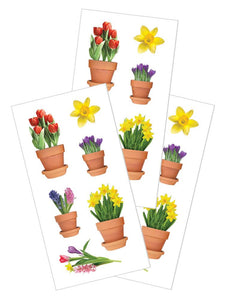 "Spring Flowers 2"" Stickers"