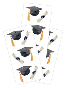 "Graduation Caps 2"" Sticker"
