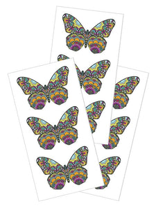 "Mosaic Butterflies 2"" Sticker"