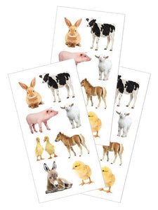 "baby barnyard animals 2"" stickers"