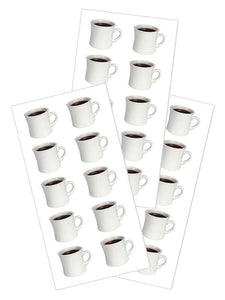 "Coffee Cups 2"" Stickers"