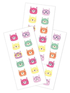 "cat faces 2"" stickers"