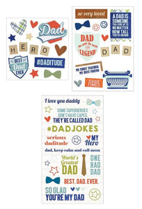 dad mixed sticker pack