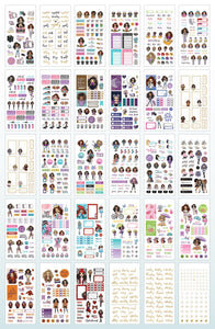 Planner Girl Sticker Book