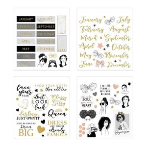 Glamorous Girls Mini Sticker Book