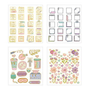 Self Care Pastels Mini Sticker Book