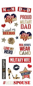 Homefront Girl Family Clear Stickers
