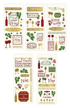 Load image into Gallery viewer, Wine Country Clear Stickers