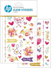 Load image into Gallery viewer, HP Moment Makers Love Clear Stickers