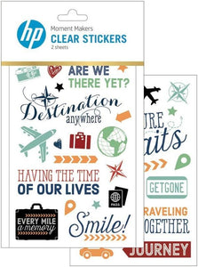HP Moment Makers Travel Clear Stickers