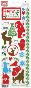 Home for Christmas Cardstock Stickers