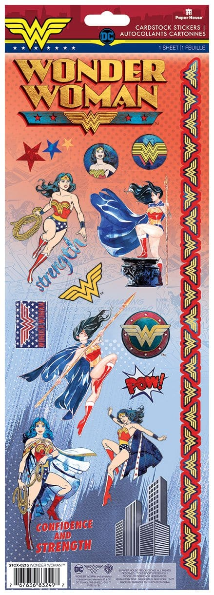 Wonder Woman™ Cardstock Stickers