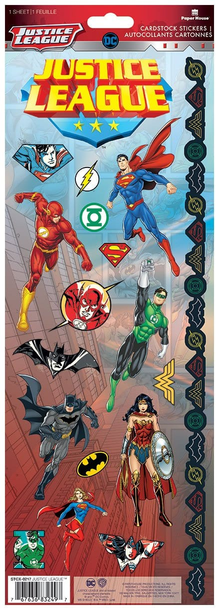 Justice League™ Cardstock Stickers
