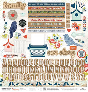 "One Big Happy Family 12"" Cardstock Stickers"