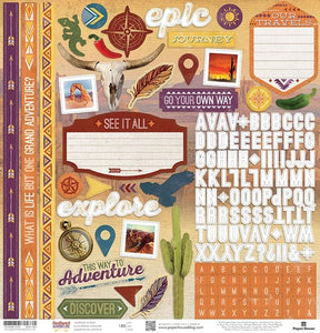 "Southwest Adventure 12"" Cardstock Stickers"