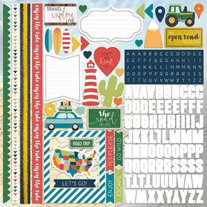 "Discover USA 12"" Cardstock Stickers"