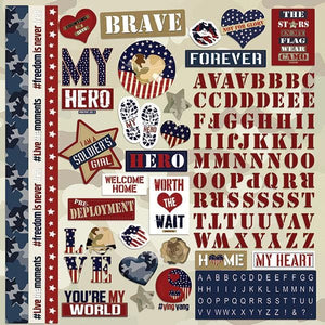 "Home Font Girl Hero 12"" Cardstock Stickers"