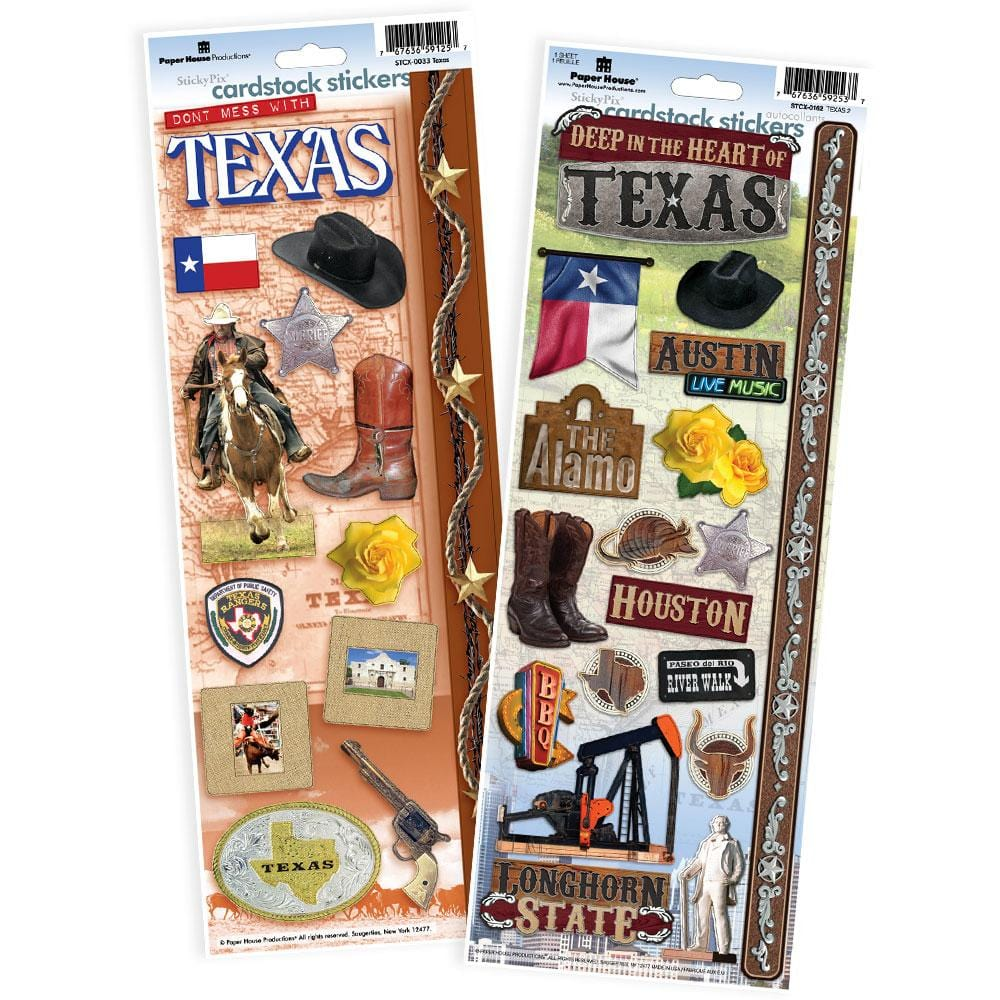 Texas Cardstock Sticker Value Pack