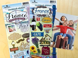 France Cardstock Sticker Value Pack