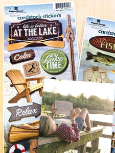 fishing/lake cardstock sticker value pack