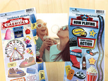 Load image into Gallery viewer, Movie & Carnival Cardstock Sticker Value Pack