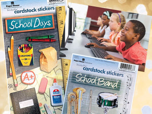 School Days Cardstock Sticker Value Pack