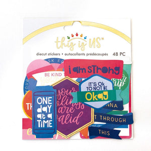 Self Care Brights Diecut Stickers