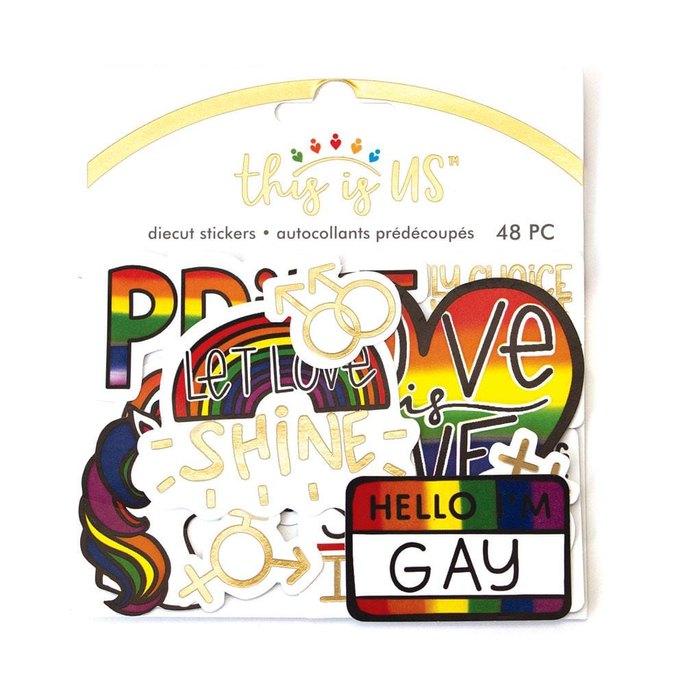 Love Is Love Diecut Stickers