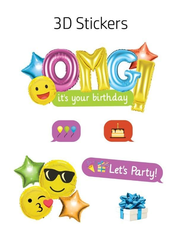 Load Image Into Gallery Viewer HP Moment Makers Emoji Birthday 3D Sticker Frame