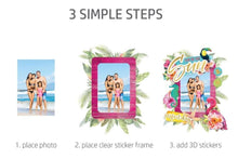 Load image into Gallery viewer, HP Moment Makers Fun in the Sun 3D Sticker Frame